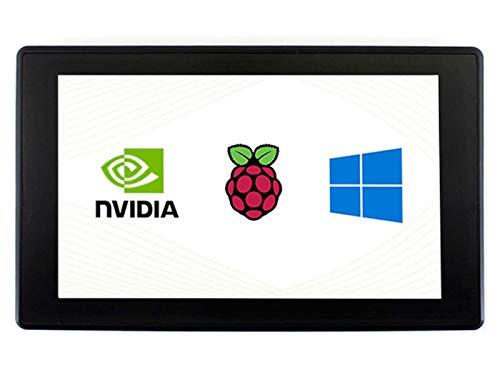 Ingcool Pantalla 7 Pulgadas para Raspberry Pi Monitor de Pantalla Táctil Capacitiva con Estuche 1024×600 Pantalla IPS Compatible con Raspberry Pi 4B/3B+/3B/Zero, Jetson Nano, Apoyo Windows 10/8.1/8/7