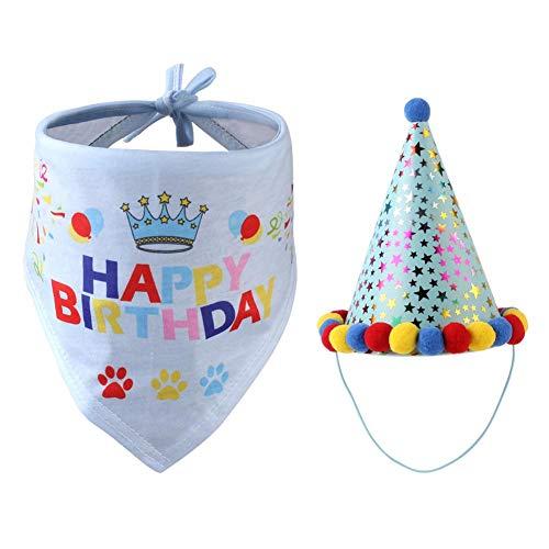 Freedomanoth Hunde-Halstuch Haustier Partyhut Katze Hund Cap Süßer Geburtstags Dekorations Set Für Geburtstagsfeier Pet Babys, Thema Party, Maskerade