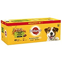 100 Percent Complete and delicious wet dog food for adult dogs Wet dog food pouches in easy-to-open pouches, suitable for a fresh healthy meal, on its own or on top of dry dog food Nutrition for dogs that helps support healthy bones, good digestion, ...