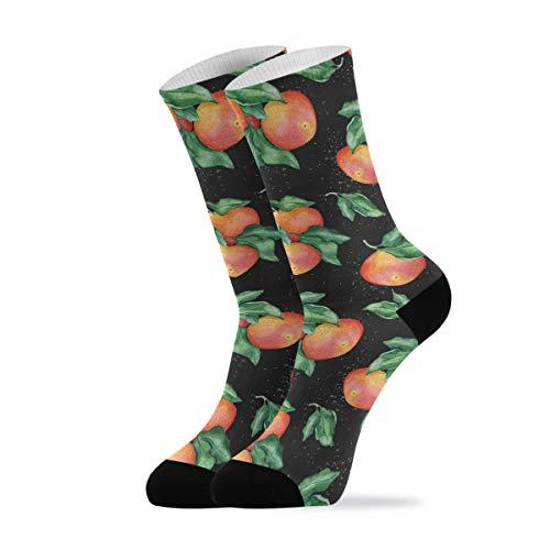 Calcetines casuales para mujer y hombre, acuarela, pomelo, calcetines deportivos, 1 par