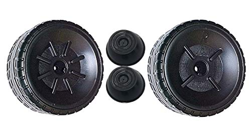 Power Wheels Mustang Boss (1) Left + (1) Right Wheel Tire Set w/ Caps GENUINE
