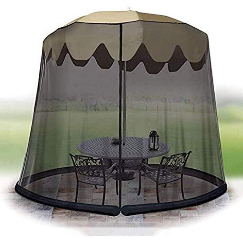 ZHTY Outdoor Garden Umbrella Table Mosquito Net Cover Screen Bug Netting Parasol Converter Cover Turn Your Parasol into a Gazebo, Grey (7.5 ft),11ft Outdoor Umbrella Mosquito Net