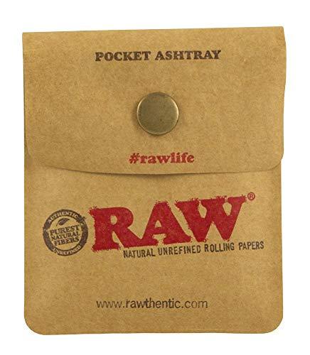 Imagen del producto 2x RAW cenicero bolsillo 9x 7,5cm resistente al fuego de plástico con pulsador