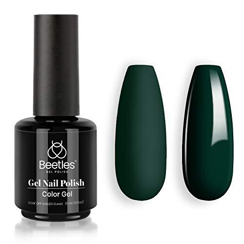 Beetles Gel Nail Polish Emma Emerald Green Color Soak Off LED Nail Lamp Gel Polish -Size: .5 fl.Oz/Each 15 ml/Each