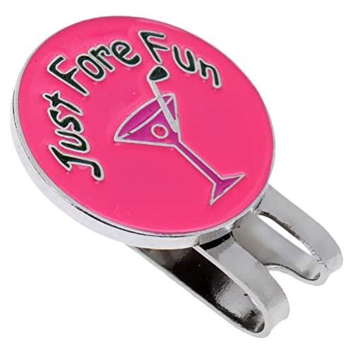 Akemaio Golf Magnetic-Hut-Klipp, Weinglas magnetischen Metall-Hut-Klipp-Golfball-Mark Fit für Golf Cap Visor Außen Golf Zubehör Golf Marker