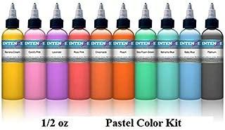 Pastel 1/2oz Color Set - Intenze Tattoo Ink - 10 Bottles