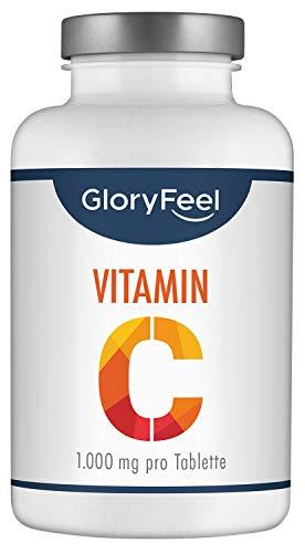 Vitamin C 1000mg - Vergleichssieger 2020* - 200 Tabletten (7 Monate) - Unterstützt Nerven- und Immunsystem** - Laborgeprüft, hochdosiert, vegan und ohne Zusätze hergestellt in Deutschland