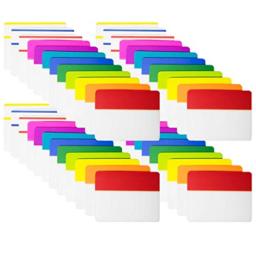 KIMCOME 960 Pieces 2 Inch Tabs Sticky Index Tabs, Page Markers File Folder Tabs Self Adhesive, Colored Reading Tabs for Binders, Books and Notebooks, [960 Pcs,12 Colors]