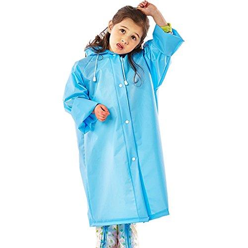 DNSJB Outdoor Regenjas Kinder Hooded Dikke Doorschijnende Draagrugzak Regen Poncho