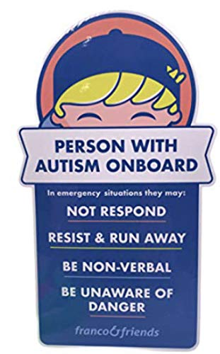 Franco & Friends 4-Pack Autism Awareness Bumper Sticker Car Decal in Case of Emergency Alerts First Responders Verbal or Nonverbal Person with Autism On Board for Car Windows Trucks SUV Vans