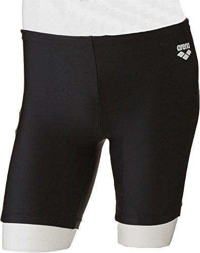 arena(アリーナ) 練習用 競泳水着 メンズ トールボックスカット ベーシック スクール ARN-187N BLK(ブラック×ホワイト) Sサイズ