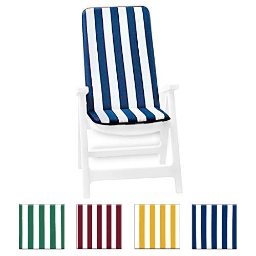 sdraio da giardino morbido Cuscino copri sedia UNIVERSALE morbido seduta poltrona sdraio tessuto cotone per piscina mare giardino mod.IBIZA FASCIATO VERDE