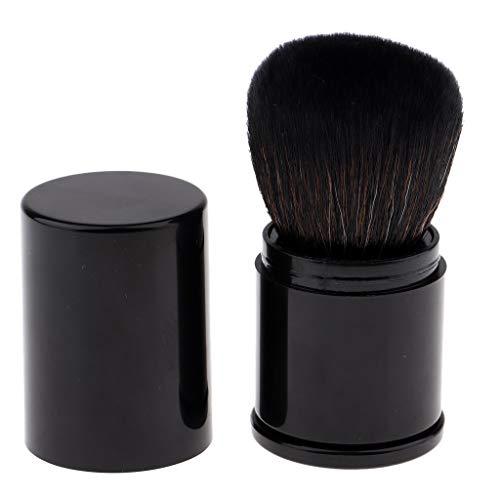 Sharplace Professionnelle Maquillage Pinceau Blush Rétractable Brosse Poudre Libre pour Visage avec étui Portable De Voyage Sac À Main - Noir