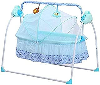 Baby Cradle Swing Electric Stand, Baby Crib Cradle Auto Rocking Chair Newborns Bassinets Sleep Bed, Rocking Music Remoter ...