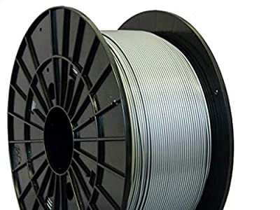 Czech-Made PLA, Silver, ? 1.75 mm, 1 kg Spool, 3D Printing Filament from Filament PM