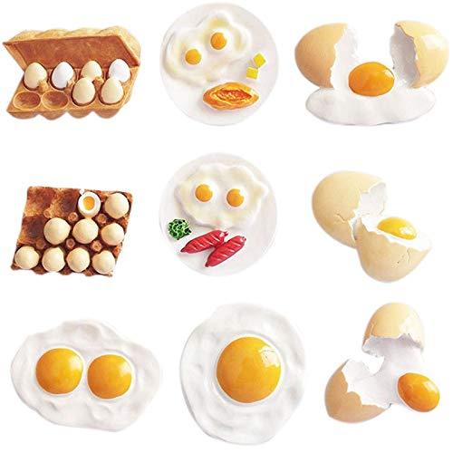 SODIAL 9PCS Cute 3D Resina Imanes de Nevera Huevo de Dibujos Animados Refrigerador Mensaje Etiqueta Ni?Os Ni?Os Juguete Hogar DecoracióN de Navidad