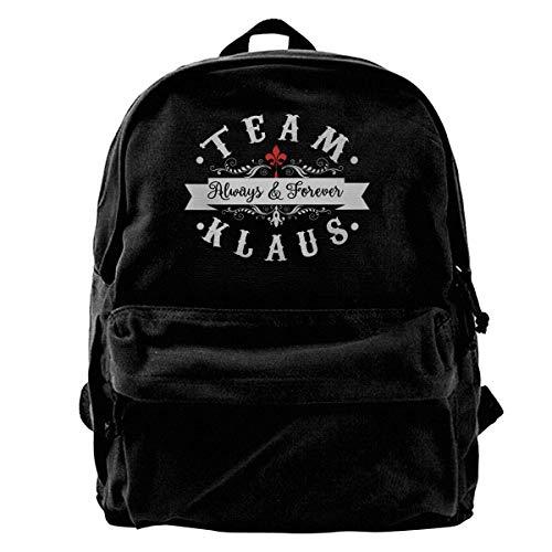 Haloxa Team Klaus. Always & Forever Rucksack Canvas Schultasche Canvas Allzweck verstellbare Schulter Reise Hohe Kapazität