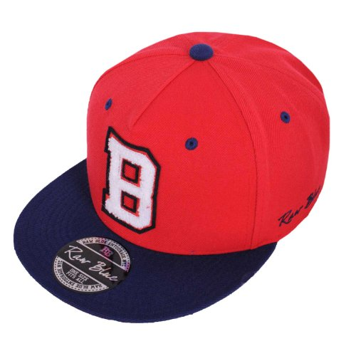 Raw Blue Letterpatch-Snapback B in Red / Navy