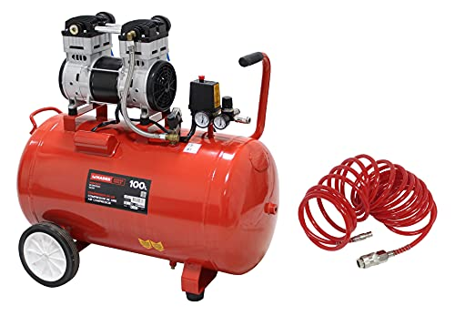 Mader Power Tools 02026 Kit Compresor de Aire Silencioso, 100L, 2HP, y Manguera 5M-Mader | Power Tools-02026