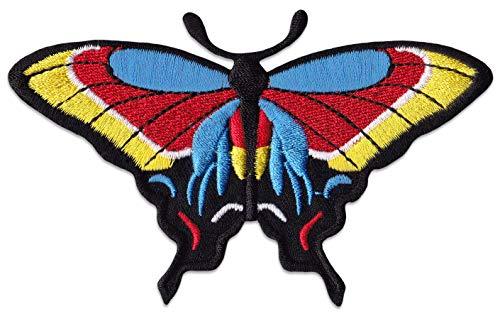 Kleurrijke vlinder patch meisje opstrijkapplicatie Klein multicolor