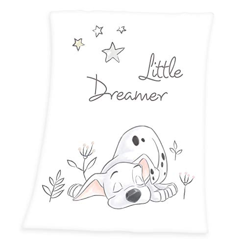 Herding Disney's 101 Dalmatiner Decke, Polyester, weiß, 75 x 100 cm