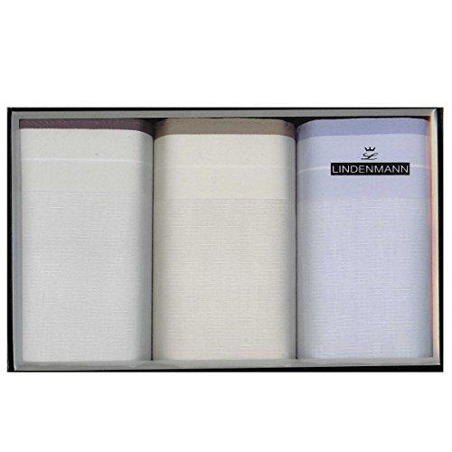 Lindenmann Handkerchiefs for men, 3-pack, grey-beige-blue, 50020-001