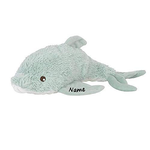 Elefantasie Stofftier Delfin mit Namen und Geburtsdatum personalisiert 18cm