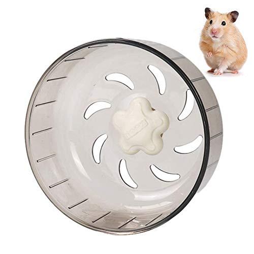 PTONZ - Rueda para hámster, ruedas silenciosas, ruedas de hámster, ruedas de ejercicio, juguete de plástico acrílico, giratorios silenciosos para ratones, hámster, ratas, gerbil, ratas, etc. (gris)