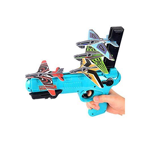 Catapulta De Espuma De Pistol Launcher, Juguete Del Juego De Disparos, Modelo De Espuma De Eyección De Un Solo Clic, Con 4 Piezas De Lanzador De Aviones Glider, Divertido Juguete Al Aire Libre,Azul