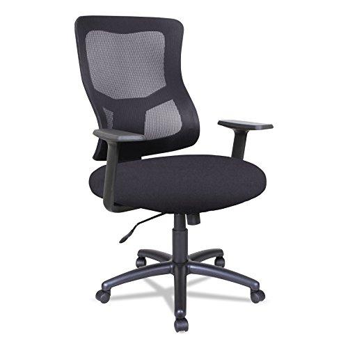 Alera Elusion II Series Mesh Mid-Back Swivel/Tilt Chair, Black