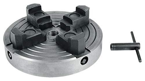 Einhell Plato de cuatro mordazas accesorio para torno (adecuado para torno TC-WW 1000 y TC-WW 1000/1, recepción M18)