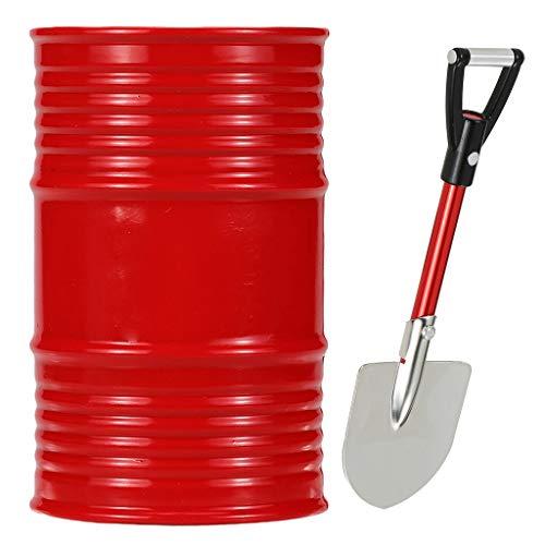 lahomia Red Metel Oil Tank + Shovel Accesorio de Bricolaje para CC01 D110 RC Buggy