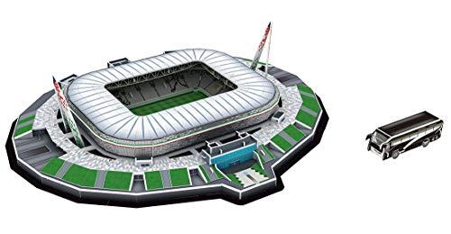 Auveach Puzzle Tridimensionale 3D Famoso in Tutto Il Mondo Campo da Calcio 2019 Puzzle per Bambini Ragazzi Giocattolo con Inserto di Incantesimo Fai-da-Te (Juventus Stadium(Italia))