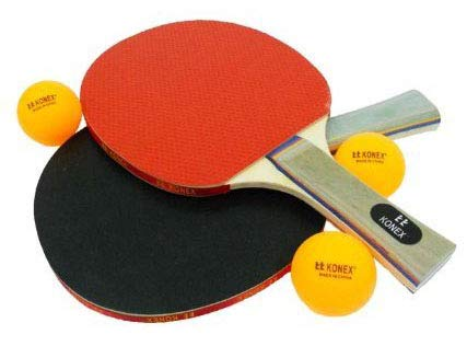 H.K Trader Konex Orignal Table Tennis Set with Two Racquets Three Ball with Cover