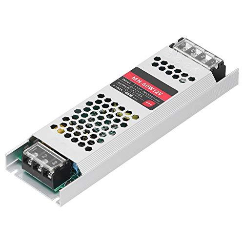 KUIDAMOS Controlador de Fuente de alimentación LED de Tira Larga ultradelgada de 60 W antiinterferencia para luz Exterior(DC12V)