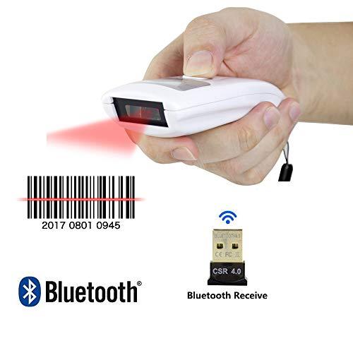 ZUKN Souris Bluetooth Barcode Scanner de Poche sans Fil Portable 1D Barcode Scanner Compatible Smartphone PC Peut Lire Tous Les lecteurs de Codes à Barres
