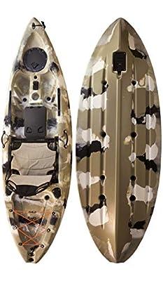 00850008571046 Vanhunks Manatee 9ft Single Fishing Kayak - Desert by Vanhunks Boarding