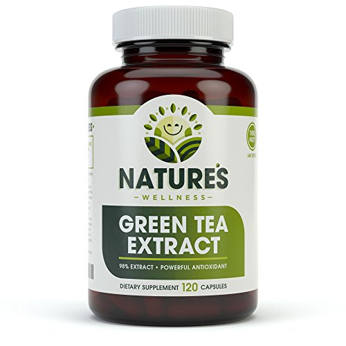 Green Tea Extract 98% Standardized with EGCG | Healthy Weight Support, Metabolism, Energy & Heart Health | Green Tea Capsules are Natural Caffeine Pills...