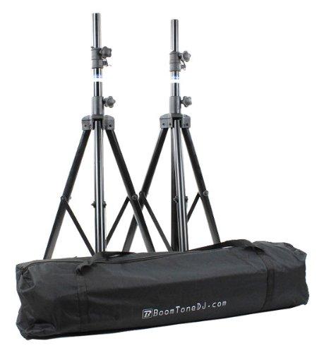 BoomToneDJ SV 200 II - Soporte de altavoz (set de 2), color negro
