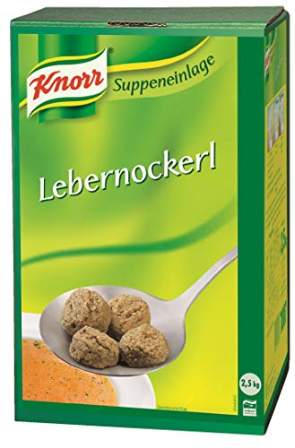 Knorr Lebernockerl (vorgeformte Nockerl mit feinem Lebergeschmack) 1er Pack (1 x 2,5 kg)