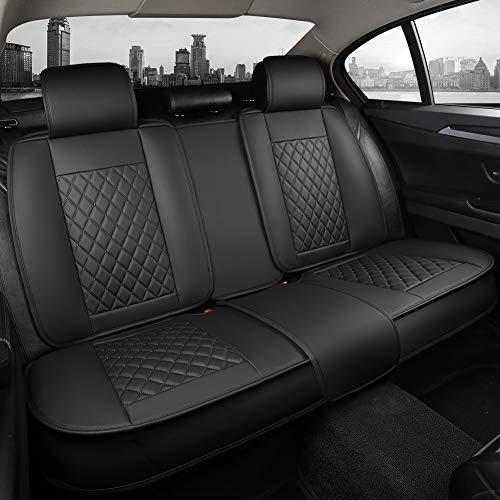 Giant Panda Rear Bench Car Seat Cover Fit Most Sedans SUVs Pickup Trucks (Black)