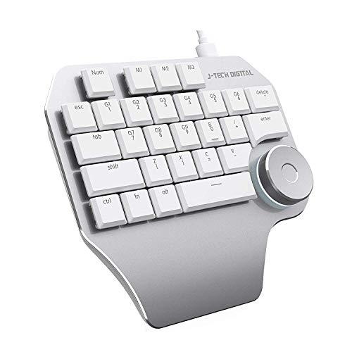 J-Tech Digital Mechanical Designer Keyboard (K610) (White Keyboard)