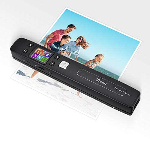 Magic Wand Portable Scanners for Document, Receipts, Old Pictures Built-in WiFi, 1050/600/300 DPI Resolution, Scan A4 Color Page in 3sec, Photo Scanner for Laptop, Mac, iOS, Android, Windows