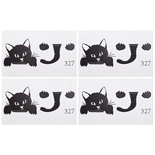 4pcs Katze Lichtschalter Aufkleber Wandtattoo Sticks für Steckdosen Wandsteckdose