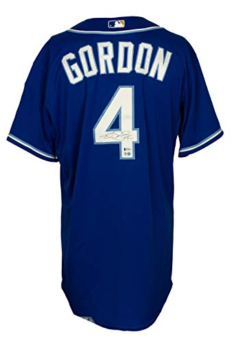 Alex Gordon Signed 2015 Game Issued Kansas City Royals Jersey BAS+MLB