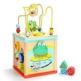 Lihgfw Juguetes educativos para bebés de más de 1 año, Treasure Box Treasure Toys, Juguetes con Cuentas para bebés, bebé de 1 año, Lindo Rana tetraedro (Color : Natural)