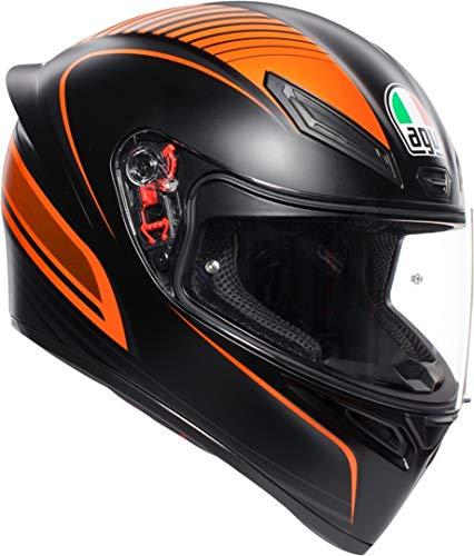 AGV K1 Warm Up Naranja Casco De Moto De Cara Completa Tamano