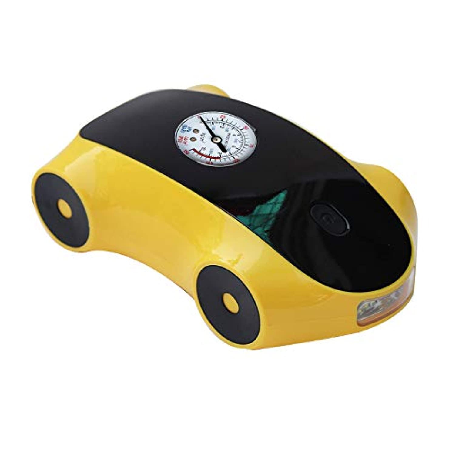 TOOGOO 車のエアーポンプ車のエアーポンプデジタルディスプレイ12ボルトポータブル?タイヤポンプスマートタイヤインフレーション黄色