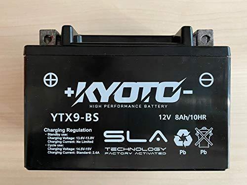 Batería de la motocicleta Kyoto SLA YTX9-BS compatible con Hyosung GV Aquila 125 2007-2008