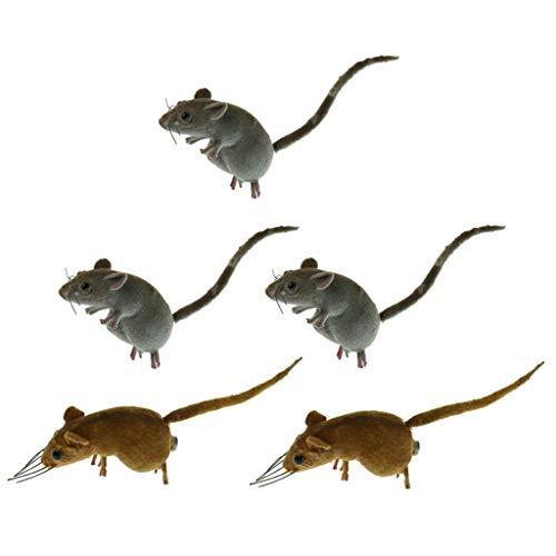 LOVIVER Realistisch Mäuse Geschenke für Freunde und Familien - 5pcs
